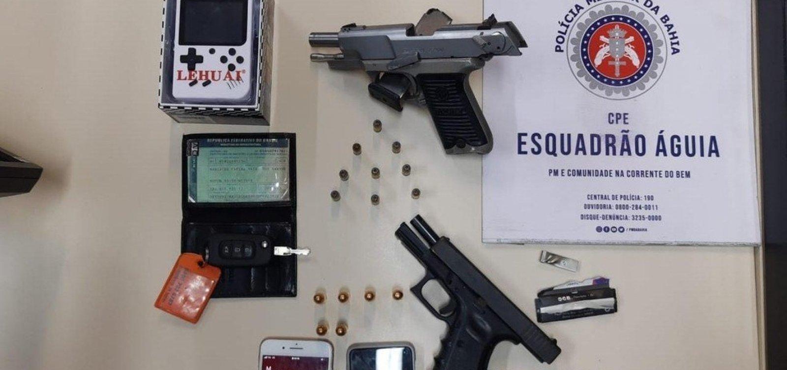 [Nove armas de fogo são apreendidas por dia na Bahia, de janeiro a setembro de 2020]