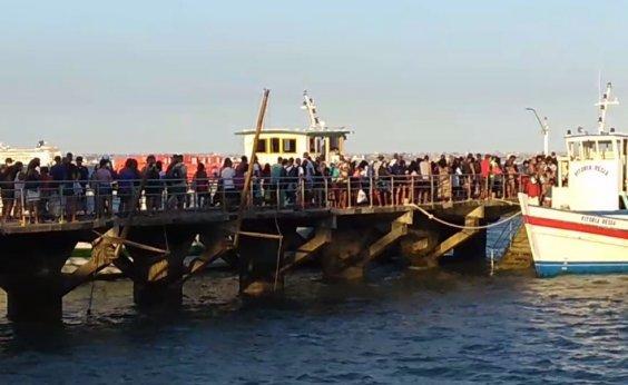 [Com passageiros sem máscara, travessia Salvador - Mar Grande registra aglomerações]
