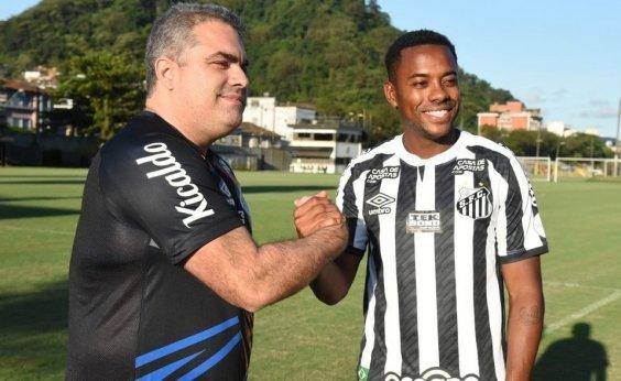 [Patrocinadores ameaçam rescindir contrato com Santos caso Robinho permaneça no time]