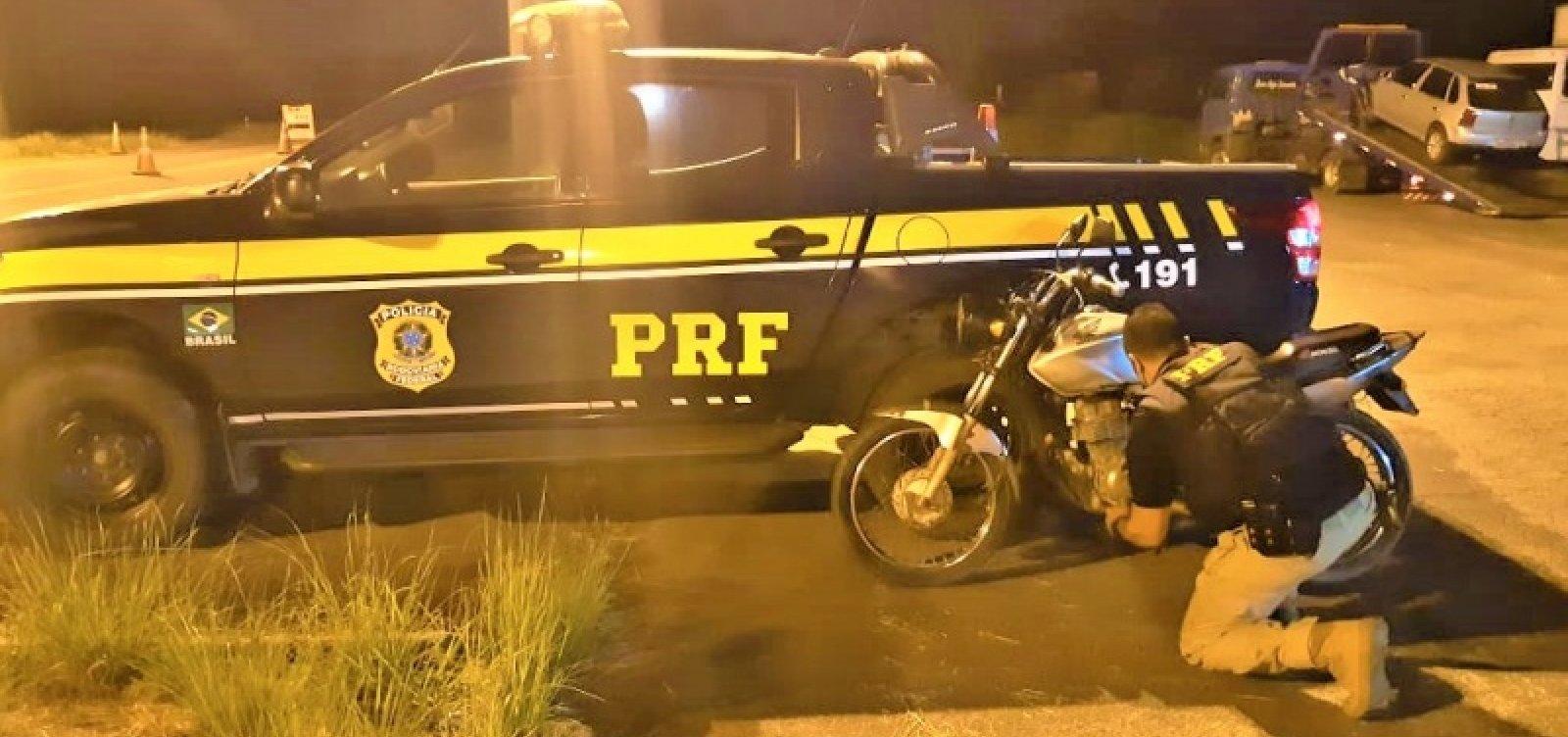 [Bêbado e sem habilitação, homem é preso pilotando motocicleta roubada em Alagoinhas]