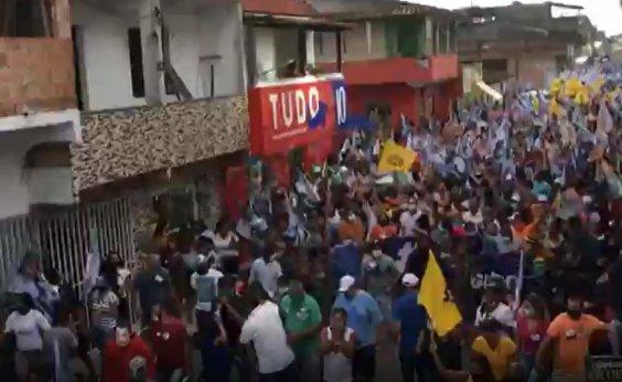 [Candidato a prefeito de Porto Seguro promove 'arrastão' com aglomeração; veja vídeo]