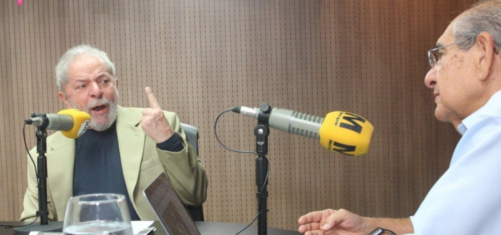 [Mário Kertész entrevista o ex-presidente Lula nesta quarta, às 8h]