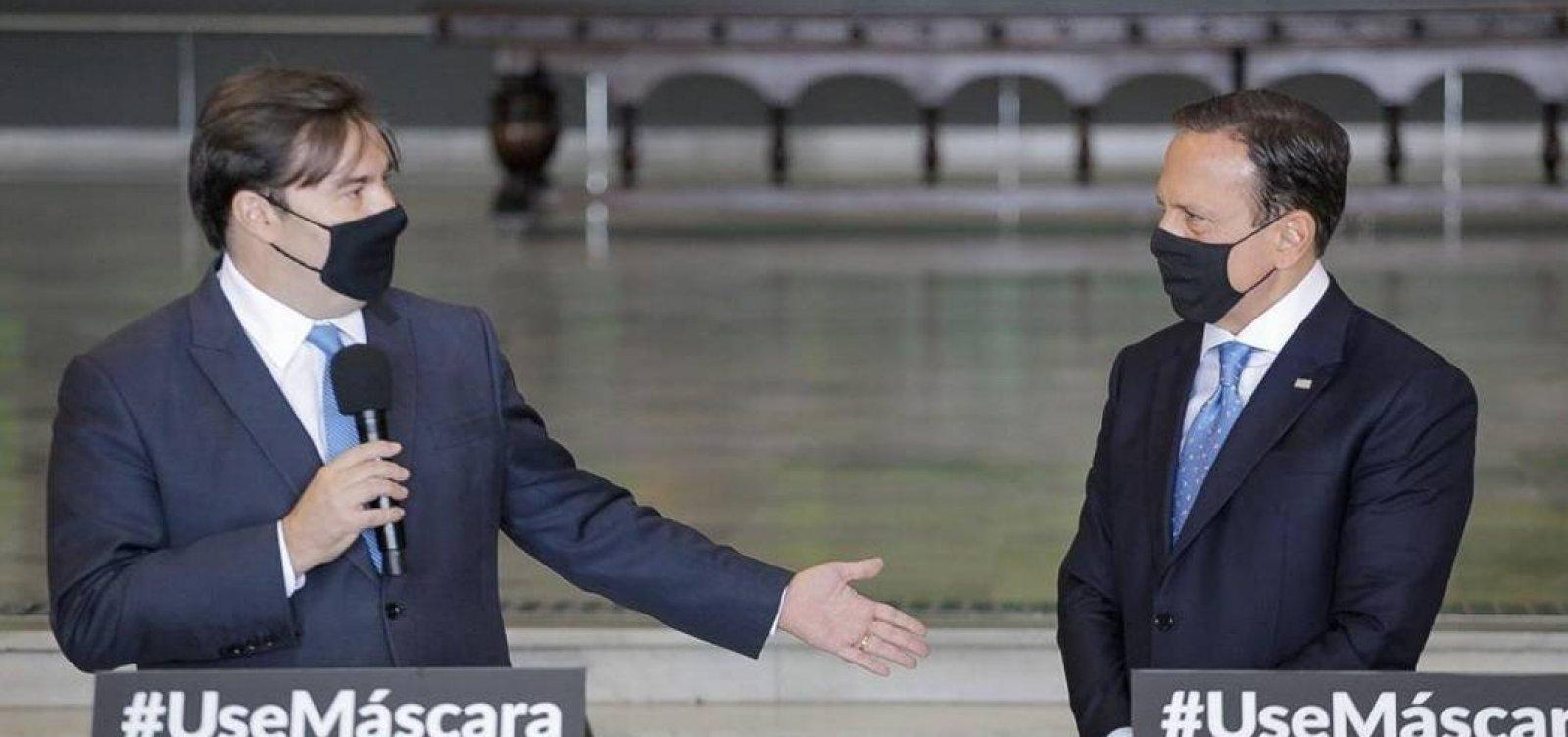 [Maia defende CoronaVac se houver aprovação e pede diálogo entre governo federal e SP]