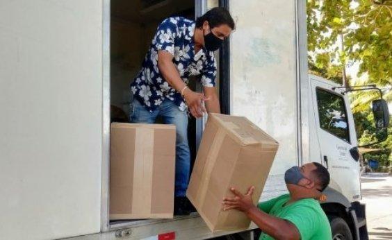 [Governo envia 720 mil máscaras de tecido e TNT para 64 municípios na Bahia]