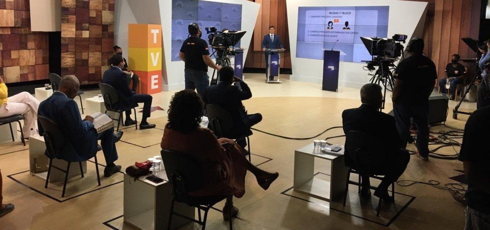 [Debate na TVE: em primeiro bloco, candidatos miram em Bruno Reis e sobem tom de ataques]