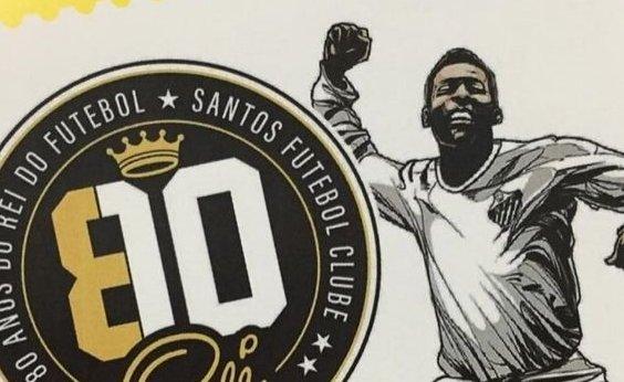 [Em homenagem aos 80 anos do Rei Pelé, Santos e Correios lançam selo e carimbo personalizados]