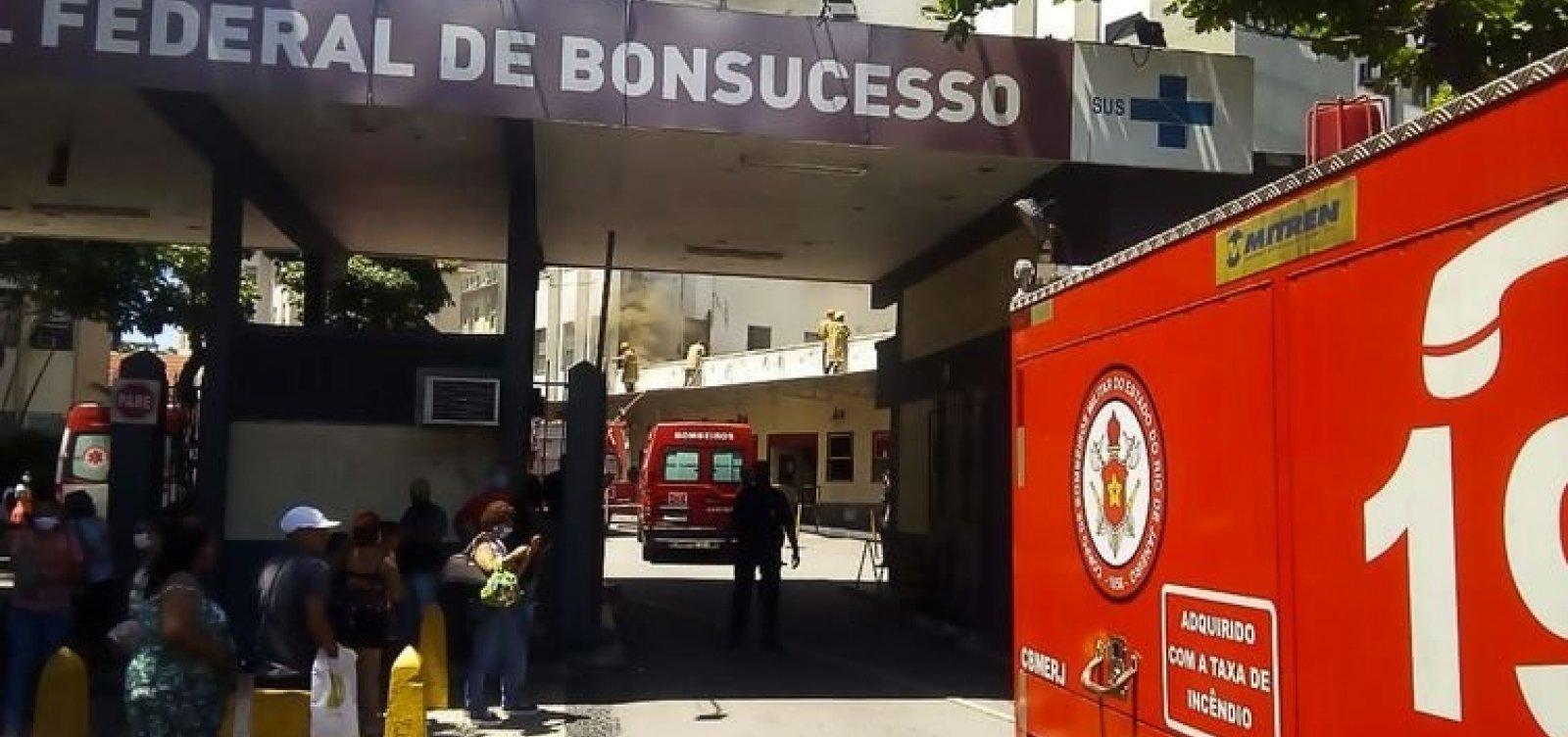 [Paciente com Covid-19 morre durante incêndio em Hospital no Rio de Janeiro  ]