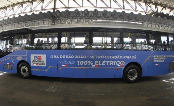 [Novos ônibus elétricos começam a rodar na terça-feira em Salvador]