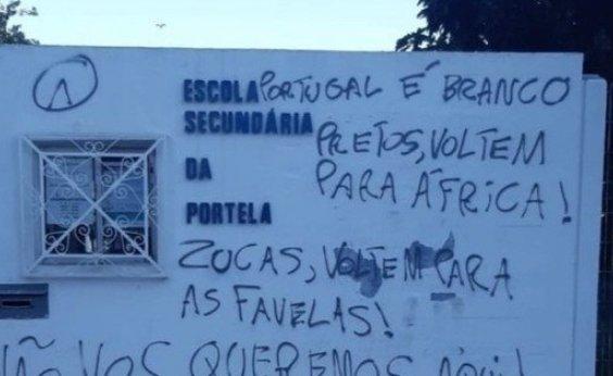 [Escolas e universidades em Portugal são pichadas com mensagens contra brasileiros e negros]